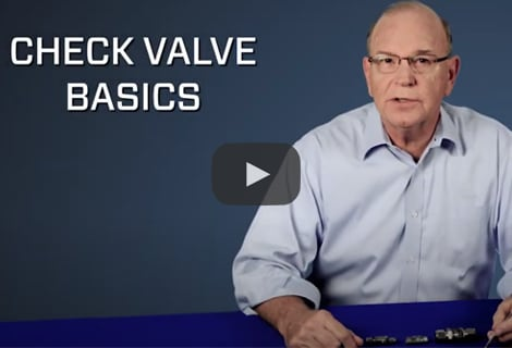 Check Valve Basics - Cracking and Resealing Pressures